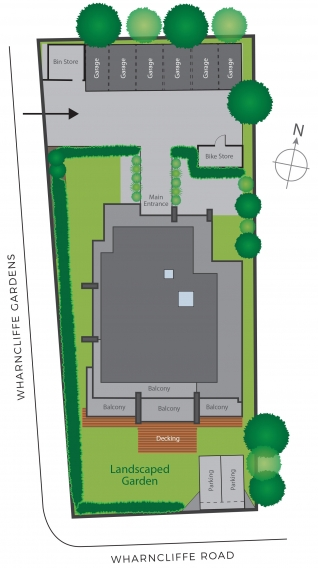 22 Wharncliffe Site plan